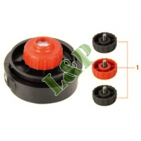 Universal Trimmer Head Mini, 2-Line Bumo-N-Go Fit For Homelite,Ryobi,Mtd and McCulloch. Include 516'' R.H. and L.H. thread and 14 R.H. Thread knobs. Dual Line