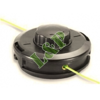 Universal Trimmer Head Easy Load TAP-N-GO Double Line Nylon Head Ø130mm Complete With Adaptor Bolt
